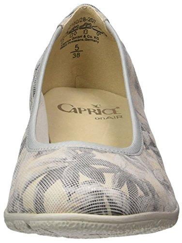 Caprice Damen 22150 Geschlossene Ballerinas Grau (LT GREY MULTI)