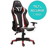 Silla reclinable para videojuegos RG-MAX Pro, silla de oficina, para ordenador, de piel sintética
