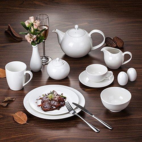 Rentzu Eine Keramische Schüssel, Gericht, Set, Weiß, Sphärischen Milch Pot 300 Ml (Milch Schüssel Weiße)