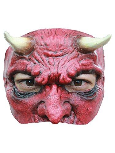 Schauriger Teufel Dämon Halbmaske Halloween rot (Halbmaske Rote)