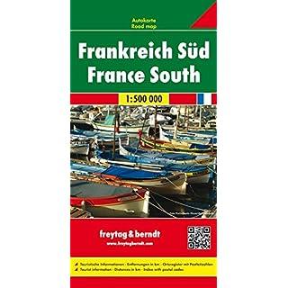Frankreich Süd, Autokarte 1:500.000 (freytag & berndt Auto + Freizeitkarten): Wegenkaart 1:500 000