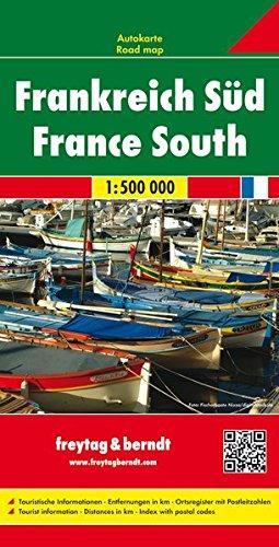 Frankreich Süd, Autokarte 1:500.000 (freytag & berndt Auto + Freizeitkarten) Karte Von Frankreich