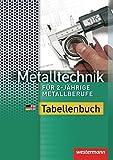 Metalltechnik für 2-jährige Metallberufe: Tabellenbuch: 1. Auflage, 2012