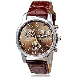 Ularmo Luxury Fashion Crocodile Faux Leather Mens Analog Watch Watches