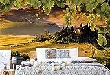 Wallsticker Warehouse Trauben Reben Landschaft Landschaft Vlies Fototapete Fotomural - Wandbild - Tapete - 368cm x 254cm / 4 Teilig - Gedrückt auf 130gsm Vlies - 2331V8 - Wiesen & Landschaft