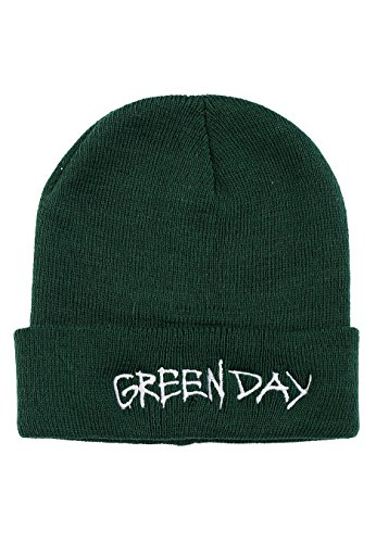 Green Day - Logo Dark Green - Beanie-Onesize Green Day-logo-beanie
