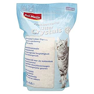 Bob Martin Cat Litter Anti-bacterial Crystals 4.2ltr (Pack of 4) 513R8aIWY6L