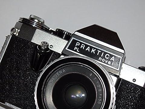 CAMERA PRAKTICA PL nova I - analoge Spiegelreflexkamera - SLR - inklusive Objektiv T - 1:2.8 f=50 aus Jena ## Sammlerstück - Baujahr 1967-1972 - Technik geprüft - funktioniert - by PHOTOBLITZ (1968 Nova)