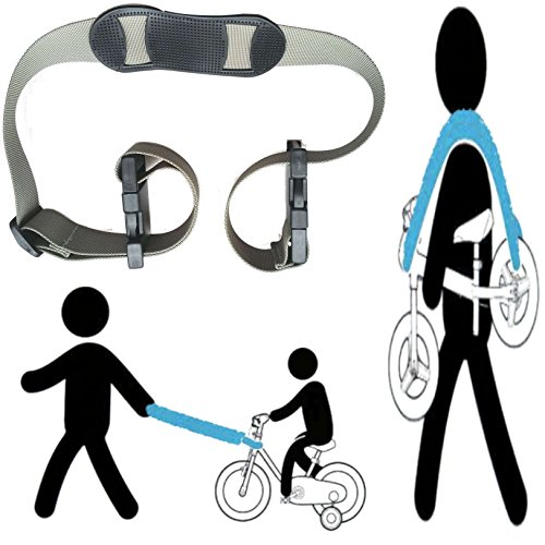 shoulder carrying strap for kids balance bike, to lead the kid's bike as trailer , carry on shoulder, or on stroller handle bar (Stroller Bar Toy)