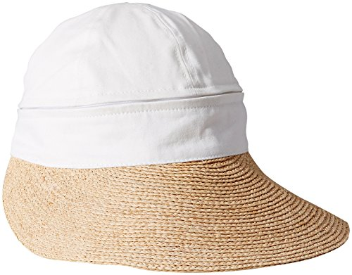 gottex-womens-regatta-zip-off-crown-convertible-cap-with-large-peak-visor-white-one-size