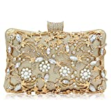 Syrads de noche de lujo Bolso de hombro mujer Glitter Diamond Hard shell Clutches Embrague para Boda Fiesta Baile diamantes de imitación