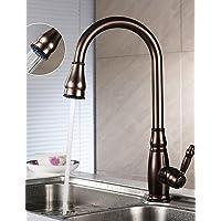 MEICHEN-FaucetCenterset singola maniglia un foro con olio-sfregato il bronzo rubinetto
