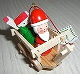 Christian Ulbricht Erzgebirge Holzfigur Weihnachtsmann Nikolaus Anhänger