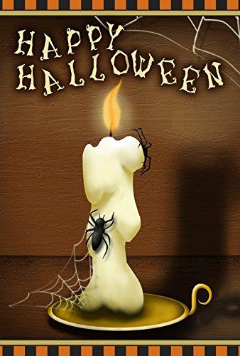 ruselige Kerze 71,1 x 101,6 cm Deko Happy Halloween Gruselige Spinnennetze Haus Flagge ()