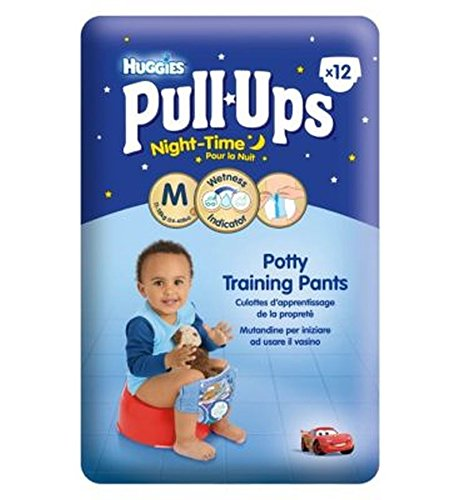 Huggies Pull-UpsDisney-Pixar Cars Notturne Dei Ragazzi Formato 5 Pantaloni Di Formazione Vasino - 1 X 12 Pantaloni