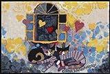 Dekorative Fußmatte von Salonloewe, Rosina Wachtmeister - Katzen unterm Fenster - Größe 50 x 75 cm