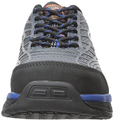 Skechers For Work 77069 Conroe Steel Toe Work Shoe Charcoal/Blue