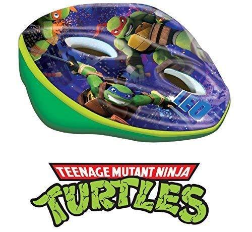 'Helm Fahrrad Helm Ninja Turtles für Kinder/Mädchen-verstellbarer Kopfumfang 52-56cm Turtle Helm