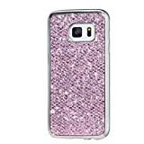 Samsung Galaxy S7 MUTOUREN TPU Silicone Case Cover bling glitering bumper shell anti-scratch shock-resistant bling bling sparking soft slim silicone cover protective case ultra thin-pink
