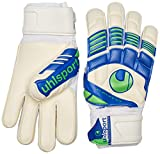 uhlsport Gants de Gardien de But Eliminator Main Lit Soft 9,5 Weiß/Marine/Fluo Grün