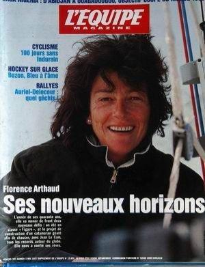 EQUIPE MAGAZINE (L') [No 787] du 03/05/1997 - FLORENCE ARTHAUD - SES NOUVEAUX HORIZONS - CYCLISME - 10 JOURS SANS INDURAIN - HOCKEY SUR GLACE - BOZON - RALLYES - AURIOL - DELECOUR QUEL GACHIS.