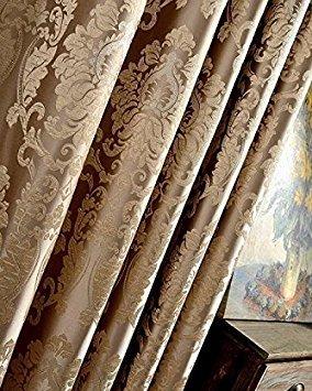 Rvsmda europea damascato jacquard tende per soggiorno blu lucido tende per camera da letto personalizzato dimensioni finestra pannelli ombra 70tende avorio