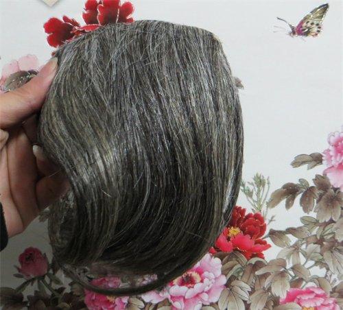 20,3 cm couleur : brun/blond (# 2/613) cheveux humains véritables cheveux Fashion avant Neat Bang franges One cheveux