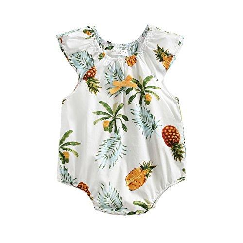 (Sanlutoz Baby Mädchen Ananas Drucken Sommer Spielanzug Baby Kind Mädchen Baumwolle Beiläufig Klamotten (18-24 Monate, BRS8034))