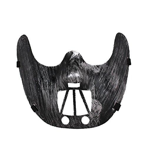 Driverder Halloween Party Horror halbe Gesichtsmaske Maskerade Maske (Silber)