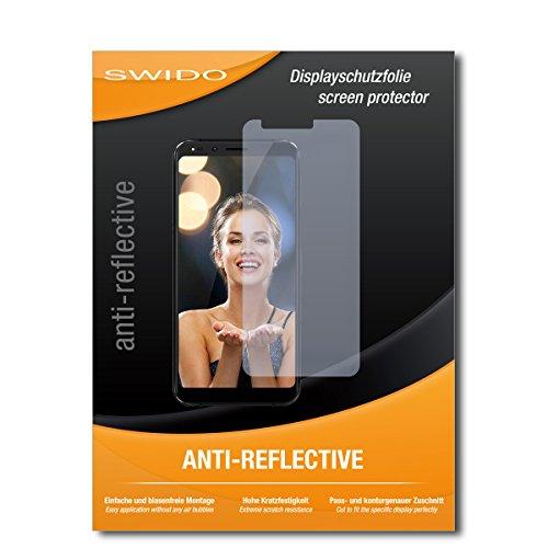 SWIDO® Schutzfolie für Allview X4 Soul Infinity Plus [2 Stück] Anti-Reflex MATT Entspiegelnd, Hoher Härtegrad, Schutz vor Kratzer/Displayschutz, Displayschutzfolie, Panzerglas-Folie