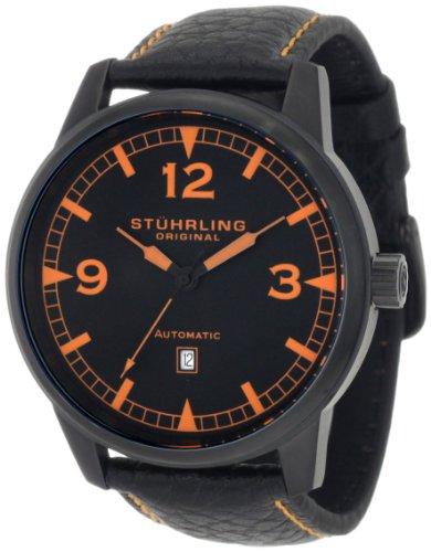 Stuhrling Original - 129XL.335557 - Montre bracelet - Automatique - Affichage - Analogique - Bracelet - Cuir - Noir - Cadran - Noir - Homme