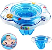 Znworld Baby Paddling Pool Ring, Baby Swimming Ring Tube Safety Infant Float Circle for Newborn Baby from 0 Mo