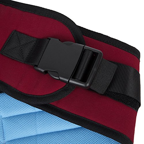 BISOZER Baby Hip Seat Carrier with mesh Pocket, Infant Toddler Waist Stool and Hip Holder Belt, Convenient for Front Seat Men and Women (Wine Red)  BISOZER-Home