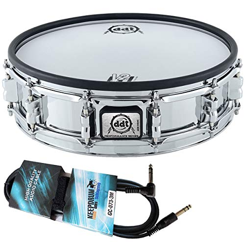 DDT MS-140C E-Drum Snare Pad Chrome 14 Zoll + keepdrum 3m Trigger-Kabel