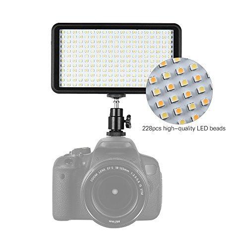 Andoer 228pcs Perlen Ultra dünne 3200K – 6000K dimmbare Beleuchtung Studio Video Foto Pad Panel Lampe LED Licht Beleuchtung für Canon Nikon DSLR-Kamera-DV-Camcorder - 2