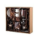 CHUANG TIAN Manuelle Kaffeemühlen, Siphon-Topf-Geschenkbox Startseite Siphon-Kaffeekannen-Set Manuelle Kaffeemaschine Kaffeekannen-Geschenkbox