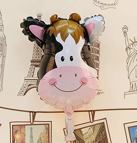 HANJIAJKL 16-Zoll-Jungen und Mädchen Alles Gute zum Geburtstag Dekoration Folienballon/Cartoon Party Aluminiumballon/für Spielzeug, Party,P - Mädchen Aufgeblasen