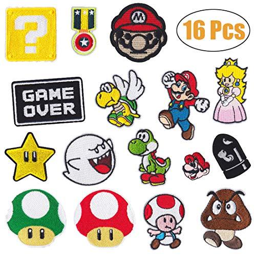 Parches planchado videojuegos Super Mario Bros, parches