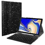 Fintie Bluetooth Tastatur Hülle für Samsung Galaxy Tab S4 10.5 T830 / T835 - Ultradünn leicht Schutzhülle Keyboard Case mit magnetisch Abnehmbarer Drahtloser Deutscher Bluetooth Tastatur, Sternbild