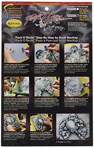 IWATA Artool Skullz 2Airbrush Schablone (Set von 3) (Set Template Stencil Airbrush)