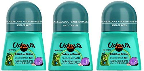 Ushuaïa - Déodorant Femme Bille Bahia Do Brasil Argile Absorbante & Parfum Baie d