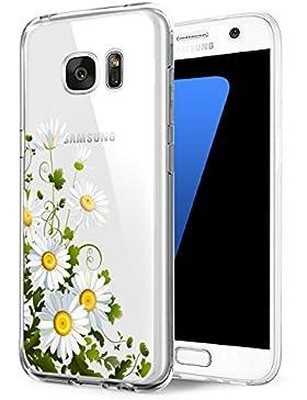Funda Samsung Galaxy S7, Vanki® Suave Soft Transparente TPU Funda Adorable Parachoques Funda Case Cover Carcasa...