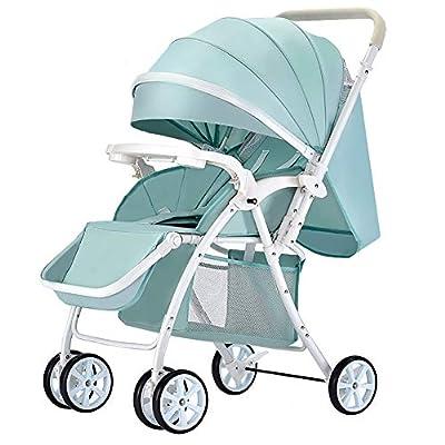 NAUY @ El cochecito de bebé se puede sentar y acostar Carrito infantil Ligero Portátil Plegable Amortiguador de Recién Nacido Carretilla para Bebés Reversible Carrito de Bebé Sillas de paseo