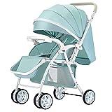 Kinderwagen kann sitzen liegend leichte tragbare Falten Schock Neugeborenen Kinderwagen Kinderwagen (Farbe : Lake blue)