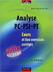 Cours de mathématiques : Analyse, PC-PSI-PT : Cours et exercices corrigés