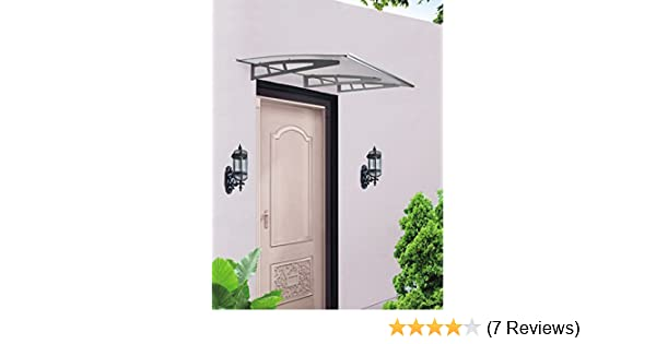 7 Modell Türvordach Haustürvordach Pultvordach Überdachung Vordach Alu-Rahmens