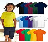 5 Fruit of the loom Kinder T Shirts 104 116 128 140 152 164 Viele Farben 100%Baumwolle