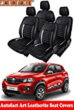#10: Autofact Art Leather AF03 Car Seat Covers for Renault Kwid (2015 to 2018) (Black / Silver) …