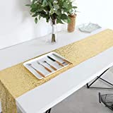 "GFCC GFCC Glitter Sequin Table Linens,Sequin Table Runners Gold 12""x120"""