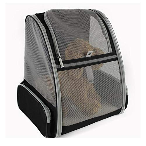 WLDOCA Faltbarer, Weicher Rucksack Für Katzen Hund mit Verstellbarer, Gepolsterter Schulter Mesh-Top-Öffnung Hundetragetasche bis 10 Kg